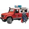 U02596 Land Rover Defender, Feuerwehr mit Feuerwehrmann