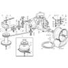 Antrieb - Getriebe für Castelgarden TYP 102-122 Hydro - Bj. 2003