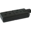 Trailing sockets 2x - Black