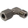 Elbow male stud coupling RVS