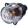 Indicator light 21W, round, 12/24V, amber/transparent, bolt on, Ø 55mm, Hella