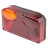 Rear light rectangular, amber/red, bolt on, 235xSacex