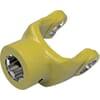 Hub yoke with spring pin hole