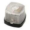 Marker light 5W, square, 12V, transparent/white, bolt on, 62x46x62mm, Hella
