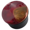 Rear light round, 12/24V, red/orange, bolt on, Ø 122.5mm, Hella