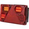 Multifunction rear LH light LED, rectangular, 12-24V, 232x142x59mm, 5-pin, Kramp