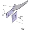 24 Couteau élargisseur de sillon