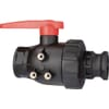 Arag 2-ways ball valve with cam-lock Adaptor