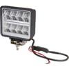 Work light LED, 24W, 2272lm, square, 9/36V, 114x128mm, Deutsch 2-pin, Wide flood, 16 LED's, Kramp