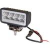 Work light LED, 12W, 1136lm, rectangular, 9/36V, 69x128mm, Deutsch 2-pin, Wide flood, 8 LED's, Kramp