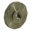 DIN 467 flat knurled nuts, metric black