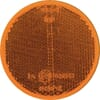 Round reflector, yellow, self-adhesive, Kramp/gopart