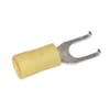 Spade fork connector with bracket yellow 4.0-6.0mm²