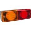 Multifunction rear light LED, rectangular, 12-24V, 200x70x60mm, 5-pin, Kramp