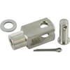 Clevis type GM-CR complete with clevis pin, split pin and washers, Stainless-steel