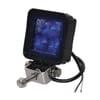 Work light LED, 8W, 720lm, square, 10/12/36V, blue, 70x70mm, Flood, Kramp