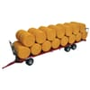 REP011 Maupu 1180/200 remorque avec 30 bottes rondes