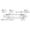 Dvojčinný valec 2487770 vhodný pre Stoll Robust-F 35HDP / 36HDP / 50 / 51
