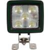 Work light LED, 67W, 5600lm, square, white, 108x80x97mm Deutsch plug, Wide flood, 20 LED's, Kramp