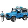 U02597 Land Rover Defender, Polizeifahrzeug mit Polizist