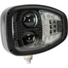 Headlight LED, RH heavy duty, 22/32W, rectangular, 12-24V, 240x127x164mm, Deutsch 6-pin, Heated, High beam/Low beam, Kramp