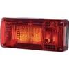 Rear light 5/21W, rectangular, 12/24V, white/orange/red, 218x54.5x100mm, gopart