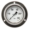 Stainless steel pressure gauge assembly, 100 mm, filled with glycerine