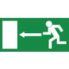 Safety signs, Emergency exit left