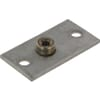 Two-hole plate single stainless steel