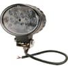 Work light LED, 36W, 2760lm, oval, 10/30V, 144x85x95mm, Spot beam, 12 LED's, Kramp