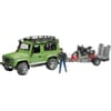 U02598 Land Rover Defender mit Anhänger, Ducati Scrambler und Fahrer