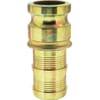 Camlock industrial hydraulic plug with hose end