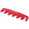 Plastic tool holder rail
