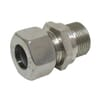 Stainless steel male stud coupling GEV-Metrics