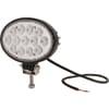 Work light LED, 39W, 3510lm, oval, 10/30V, 144x69.4x98mm, Flood, 13 LED's, Kramp