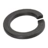 DIN 127B spring washers with flat ends, black