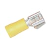 Flat plug with tongue connector yellow 4.0-6.0mm²
