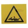 Sticker warning sign PTO 50x50mm