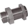 Bulkhead adaptor less nuts GSS