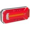 Multifunction rear light LED, rectangular, 12-24V, 236x104x61.5mm, 5-pin, Kramp