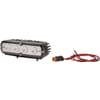 Work light LED, 20W, 2000lm, rectangular, 10-30V, white, 150x65x Deutsch plug, Flood, 4 LED's, Kramp