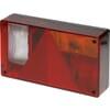 Rear light rectangular, 12V, red/transparent/orange, bolt on, 235x52x135mm, Ajba