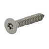 DIN 7982CTP self-tapping screws with countersunk head and anti-theft Torx pin, A2 stainless steel— AISI 304