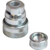 Bolted-brake coupling, flat seal