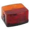 Rear light square, 12/24V, amber/red, bolt on, 95x85mm, Hella