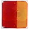 Lamp lens red/amber
