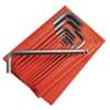 83SH.JL10 hex pin wrench sets, in bag, long, metric