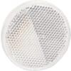 Round reflector, white, self-adhesive, AJBA