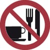 Safety signs, No eating and drinking _