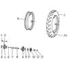 Kongskilde - Becker Aeromat E-motion-12 - Roue d'entraînement 5.00-15, 7.50-15